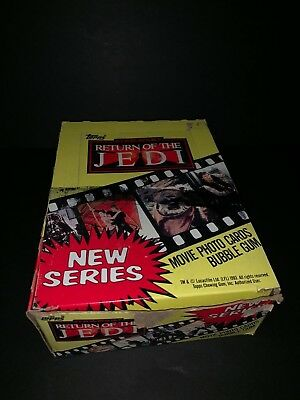 1983 Topps Return of the Jedi Series 2 Wax Box 36 Unopened Packs Trading Cards