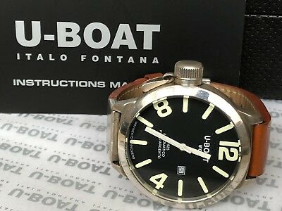 Genuine Gents Rare U-Boat Solid Silver Limited Edition Automatic Men Wrist watch