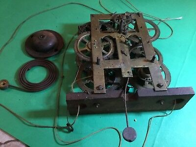 CHAUNCEY JEROME New Haven,Conn USA Brass Clock Movement for Spares or repair