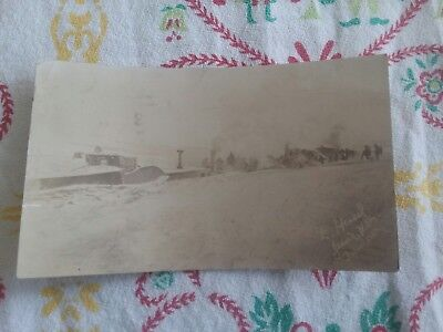 Vintage 1920 North Dakota Blizzard Jessie ND Real Photo Postcard  E. Husel