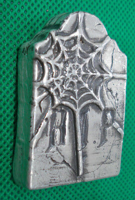 5 TR OZ Hand Poured MK BarZ Rip Tombstone .999 Fine Silver Bar 2018