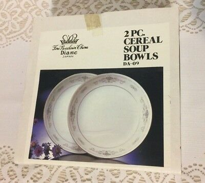 "Fine Porcelain China Of Japan Diane Set Of 2–61/4"" Cereal/Soup Bowls DA-09"