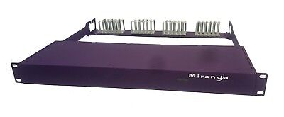 Miranda POD Tray 1 RU with 1 x CWDM-18-LC Optical 18 Channel Mux/Demux Module