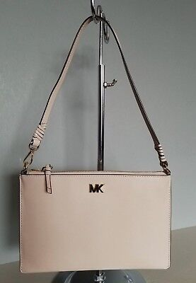 e4d2b848cc1c Nwt Michael Kors Md Leather Convertible Pouchette Clutch Handbag - Soft Pink