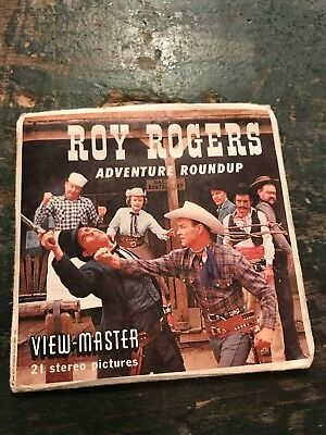 Viewmaster reel lot Roy Rogers adventure around up