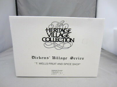 Dept 56 Dickens Village  - T. Wells Fruit And Spice Shop Ld023