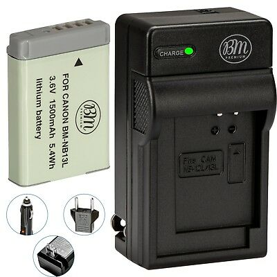 BM NB-13L Battery & Charger for Canon PowerShot SX620 HS, SX720 HS, SX740 HS