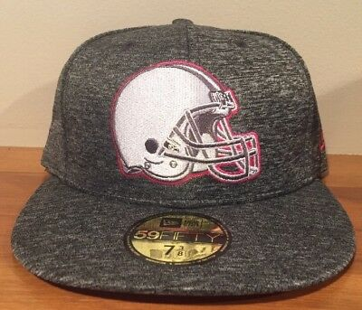 online store b6ec3 07173 Cleveland Browns New Era 59Fifty Breast Cancer Awareness Fitted Hat Cap 7  3 8