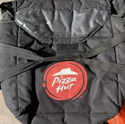 Pizza Hut Delivery Bag Black Insulated Delivery bag Modern Holds 3-4 Pizzas