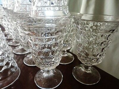 American Fostoria Low Water Goblet Glass Crystal Clear 5-1/2 T Vintage