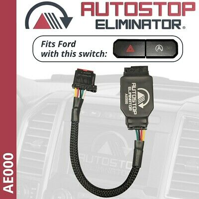 Autostop Eliminator for Ford F150 w/ Split Hazard / Auto Stop-Start Switch AE000