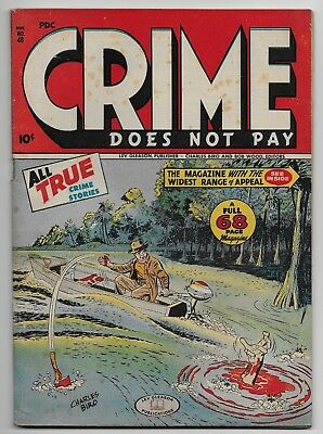 Crime Does Not Pay #48 (Lev Gleason) 5.5 FN- 1946 Horror Murder Cover GLOSSY!