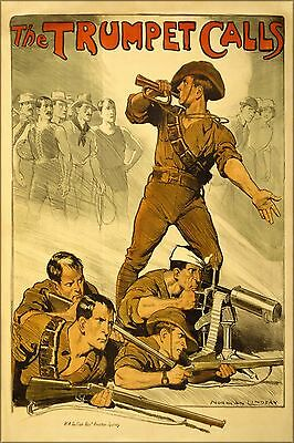 Poster, Many Sizes; The Trumpet Calls, Australian Army Recruitment Poster World