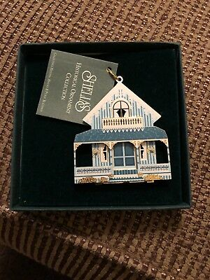 Shelia's Historical Ornament Collection NIB Blue Cottage 08001