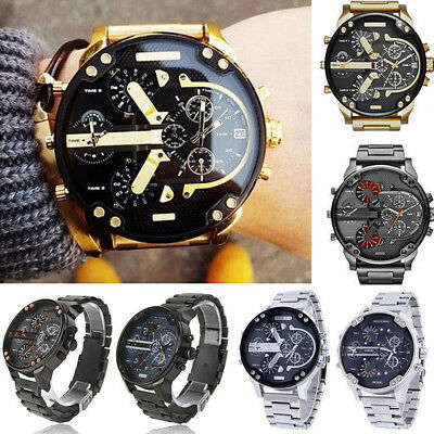 Hot Men's Luxury Stainless-Steel Quartz Fashion Watch Sport Analog Wristwatches