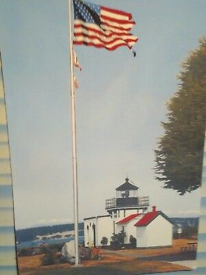 Beautiful Photo Post Card Point No Point Lighthouse Hansville Washington