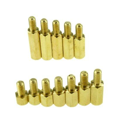 10 pcs M4 M5 M6 Brass Copper Hex Column Standoff Support Spacer Pillar PCB Board