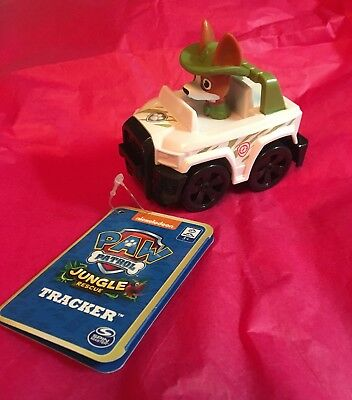 Nickelodeons Paw Patrol Jungle Rescue Tracker Pup Racer NWT