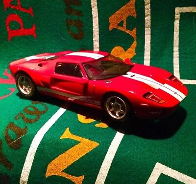 Hornby Scalextric   Ford Gt Red With White Slot Car Nice