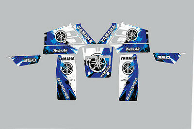 yamaha banshee full graphics kit decals stickers 350 atv quad racing pro