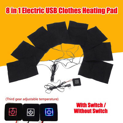 CO_ USB Electric Clothes Heater Sheet Adjustable Winter Heating Pad Warmer Tool