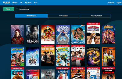 $7.00 in VUDU Movie Credits Gift Card Free Shipping