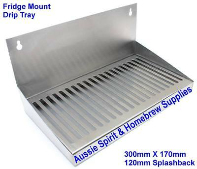 30 Cm's Stainless Steel Drip Tray For Fridge Door Mounting Home Brew Beer