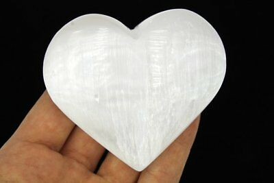 Selenite Heart Palm Stone EXTRA LARGE AA Quality Selenite