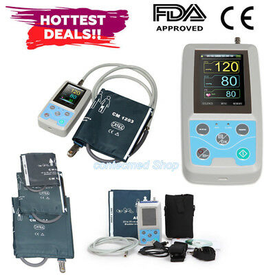 24h NIBP Ambulatory Blood Pressure Monitor+PC Software+3 Cuffs ABPM50 CONTEC