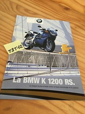 BMW motorrad K1200RS K1200 RS K 1200 motorcycle prospectus brochure catalogue