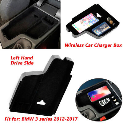 console storage box wireless charging charger for bmw f30. Black Bedroom Furniture Sets. Home Design Ideas