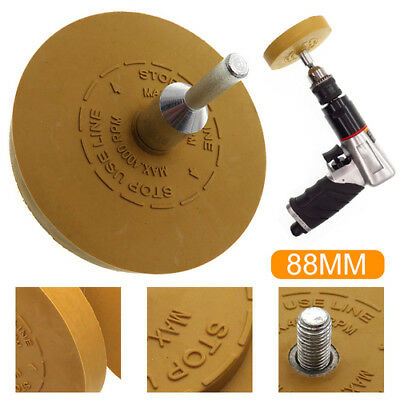 Rubber Eraser Wheel Sticker Stripe Decal Foil Adhesive Tape Glue Remover Paint
