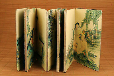 Rare paper art book wedding culture of husband wife statue Paintings Scrolls