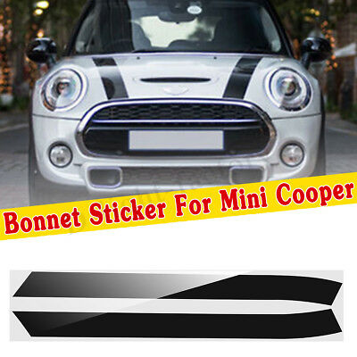 For MINI ONE MINI Cooper Bonnet Stripes Vinyl Graphics Decals Stickers Livery