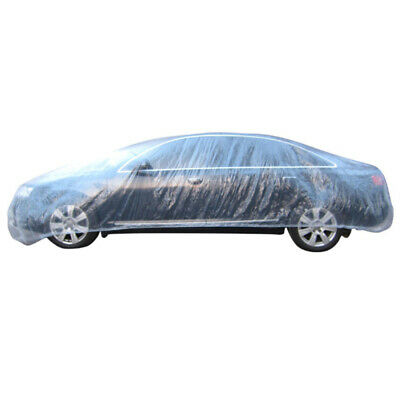 Clear Plastic Disposable Universal Car Covers Rain Dust Garage Cover Waterpoof 1