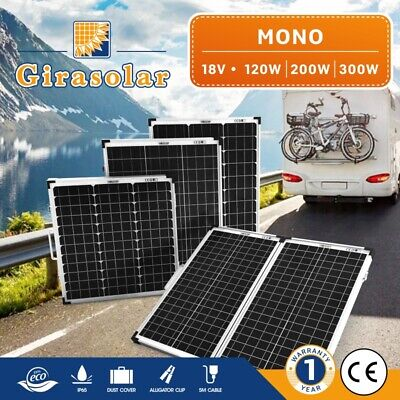 120W 200W 300W 12V Solar Panel Mono Caravan Camping Boat Power Charging Battery