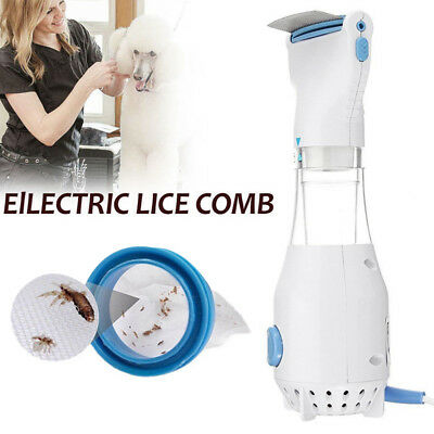 Head Vacuum Lice Comb Electric Capture Pet Filter Lice Remover Kit UK