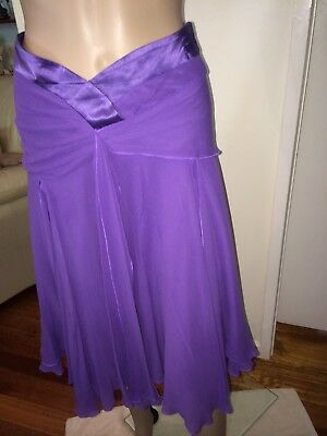 Laura Ashley Two Piece Silk Top And Matching Skirt