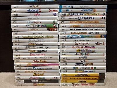 Huge Lot of 46 Nintendo Wii Wii U Games - Most Complete in Box CIB - Free Ship