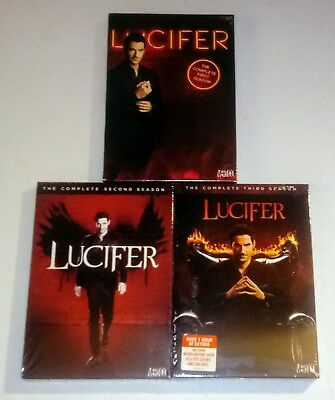 New! Lucifer: The Complete Series, 1-3, 1 2 3. 11 Dvd Bundled Set. Ships Free