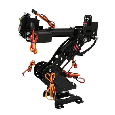 Metal 7 Axis Robot Robotic Arm Claw Clamp Gripper Kit w/ Servo For Arduino