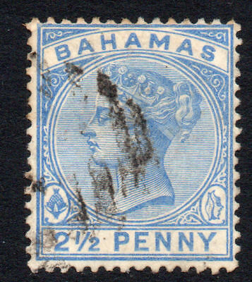 Bahamas 2 1/2 Penny Stamp c1884-90 Used (1366)