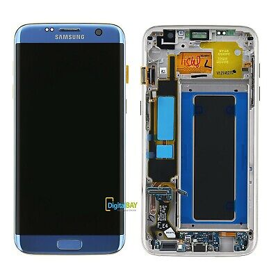 Lcd Touch Display SERVICE PACK Samsung per Galaxy S7 Edge SM-G935 Blu