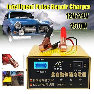 12V/24V 250W Electric Car Battery Charger Intelligent Pulse Repair Motorcycle