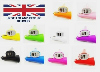 NEW Car Charger 3.1A Double USB LED Universal Fast Charging iPhone Samsung
