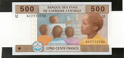 CENTRAL AFRICAN STATES 500 Francs 2002 P 206Ud UNC Banknote