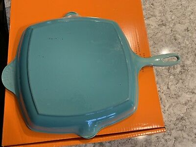 Le Creuset Cast Iron Square Grill Pan Cool Mint