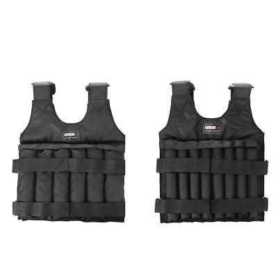 20/50kg Adjustable Load Weighted Vest Jacket Training Exercise Running Waistcoat