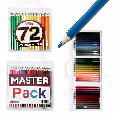 72 x Coloured Pencils Artist Colour Sketching Drawing Colouring - FREE CASE