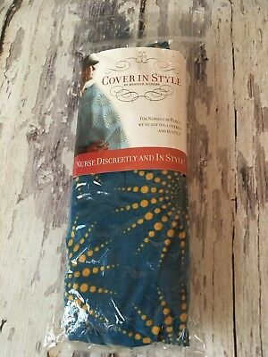 COVER IN STYLE by Hooter Hiders Nursing Cover Blue & Yellow New Open Package